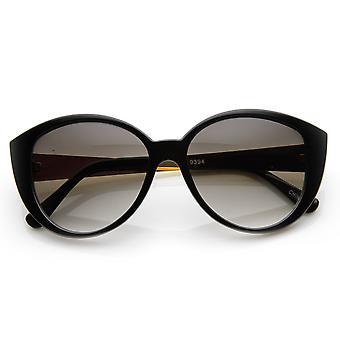 Womens Fashion Prism Round Pointed Corner Oversized Sunglasses