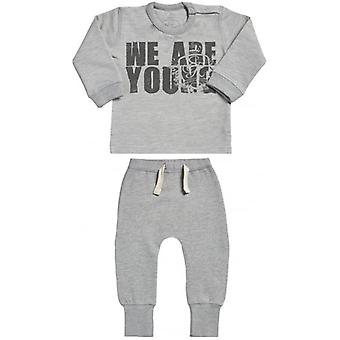 Spoilt Rotten We Are Young Sweatshirt & Joggers Baby Outfit Set