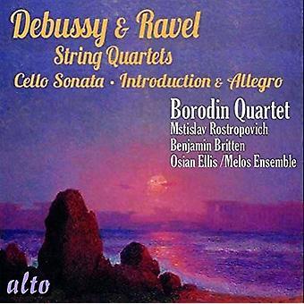Borodin Quartet, Melos Ensemble, Rostrop - Debussy; Ravel: stråkkvartetter introduc [CD] USA import