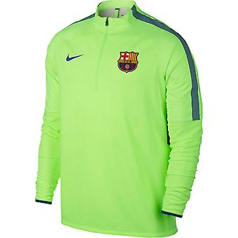2016-2017 Barcelona Nike Shield Strike Bohrer Trainingstop (Ghost Green)