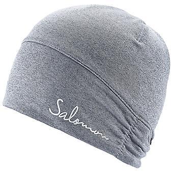 Salomon Damen Elevate Warm Beanie Mütze Grau - 394924