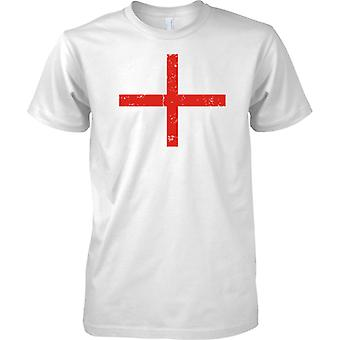 St Georges English Flag Distressed Design - Kids T Shirt
