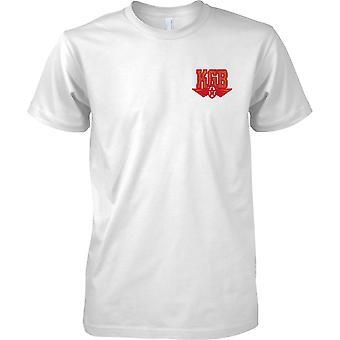 Unione Sovietica di KGB - agenzia di spionaggio russo fredda guerra - sicurezza - petto Mens t-shirt Design
