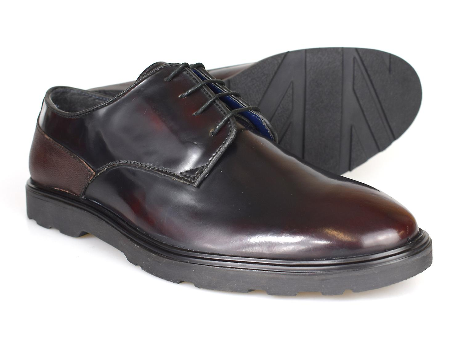 Silver Street London Ruskin Oxblood Patent Mens Leather Shoes