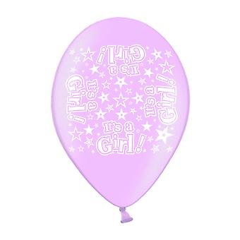 Simon Elvin It's A Girl Latex Balloons (Pack Of 10)