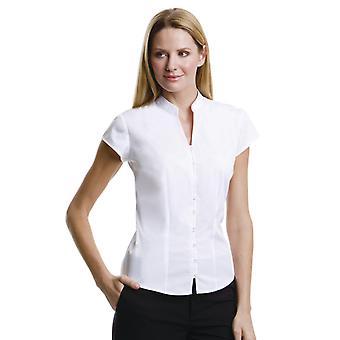 Kustom Kit Ladies Mandarin Collar Blouse-KK727