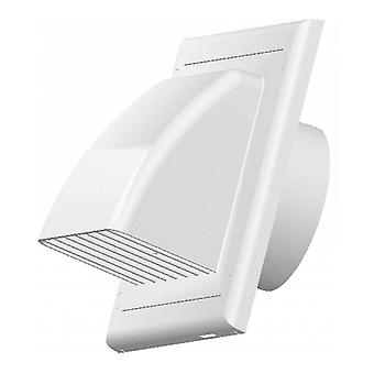 Vents Ventilation Grate Covering Return Flap ABS White Outer Cover 100/125/150mm
