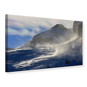Lona impressão nevascas nas montanhas