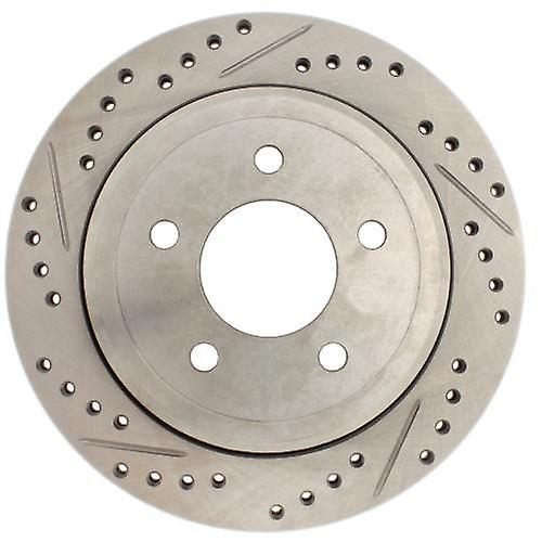 StopTech 227.61073R Select Sport Drilled and Slotted Brake rougeor; Rear Right