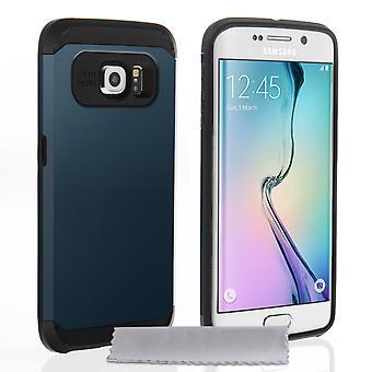 Caseflex Samsung Galaxy S6 borde resistente armadura - caja de pizarra Metal