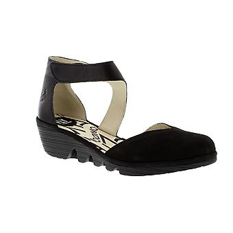 Fly London Pats - Black Cupido/Mousse (Leather) Womens Shoes