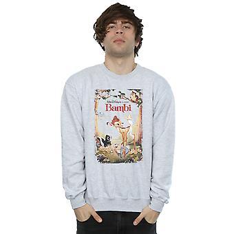 Disney menns Bambi Retro plakat Sweatshirt