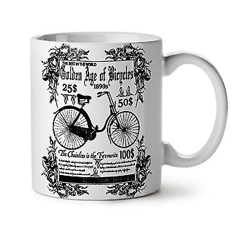 Old School Bike Vintage NEW White Tea Coffee Ceramic Mug 11 oz | Wellcoda