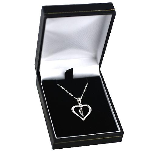 Silver 18x18mm initial Y in a heart Pendant with a rolo Chain 14 inches Only Suitable for Children