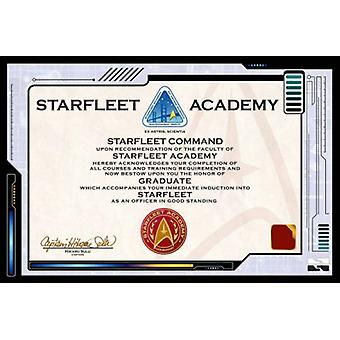 Star Trek - Zertifikat-Plakat-Druck (24 x 36)