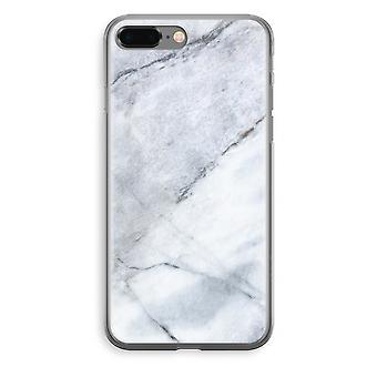 iPhone 8 Plus Transparant fall (Soft) - marmor vit