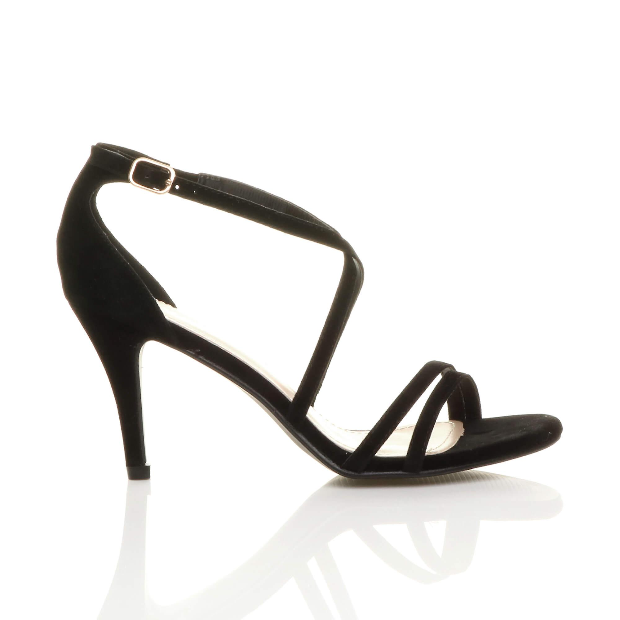 Ajvani womens womens womens mid low high heel strappy crossover party wedding prom sandals shoes 73ee3a