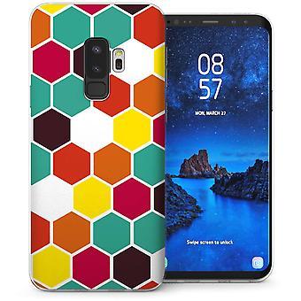 Samsung Galaxy S9 Plus Geo Hex Gel Case-groen