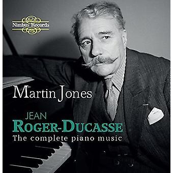 Roger-Ducasse / Jones, Martin - Roger-Ducasse / Jones, Martin: Complete Piano Music [CD] USA import