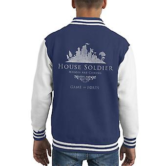 Fortnite House Soldier Game Of Thrones Mix Kid's Varsity Jacket