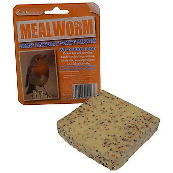 Verme della farina sugna blocco alimentatore dell'uccello