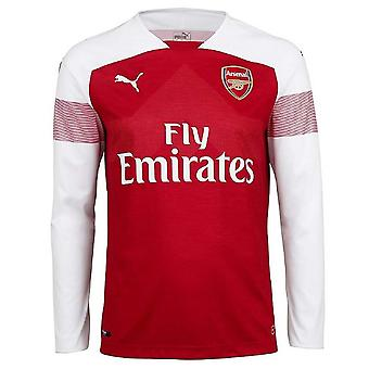 2018-2019 Arsenal Puma Home Long Sleeve Shirt (Kids)