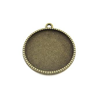 Packet 20 x Antique Bronze Tibetan Coin Cabochon Settings 18.5 x 22mm HA12860