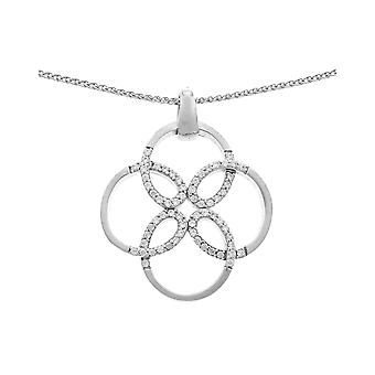 Orphelia Silver 925 Chain With Pendant Flower  Zirconium  ZH-6085