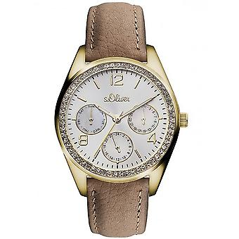 s.Oliver women's watch wristwatch leather SO-3165-LM