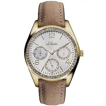 s.Oliver Damen Uhr Armbanduhr Leder SO-3165-LM
