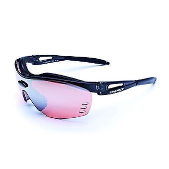 Wenger X-Kross glasses OF1007. 01 Cristall red black / black lens bike pro active