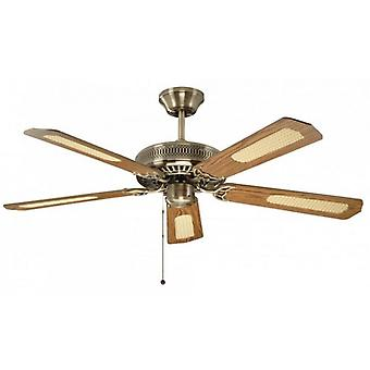 Ceiling Fan Classic Antique Brass with Pull Cord