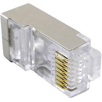 Modular plug fully shielded CAT.5e Plug, straight Transpa