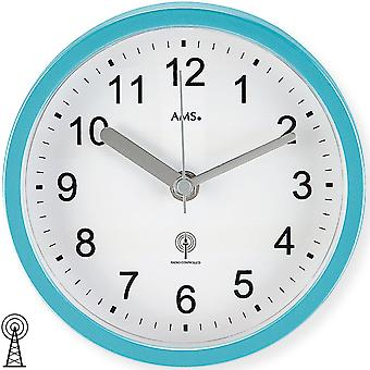 Bathroom clock / clock / table clock radio turquoise waterproof bathroom clock plastic housing