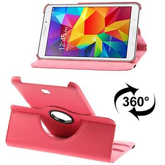 PU cover tray ash (flip cross) for Samsung Galaxy tab 4 8.0 SM T330 pink