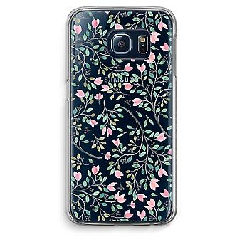 Samsung Galaxy S6 Edge Transparent Case (Soft) - Dainty flowers