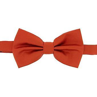 David Van Hagen zwykły satyna jedwabna Bow Tie - spalony pomarańczowym