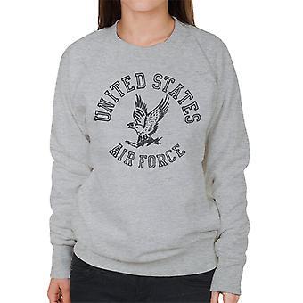 US Airforce Eagle Black Text Women's Sweatshirt