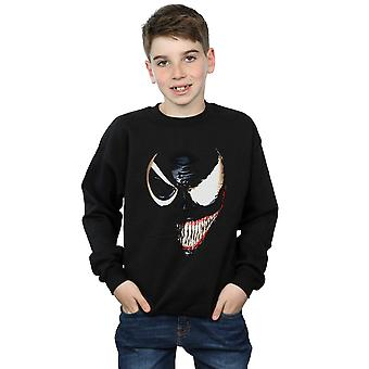 Marvel Universe Boys Venom Split Face Sweatshirt