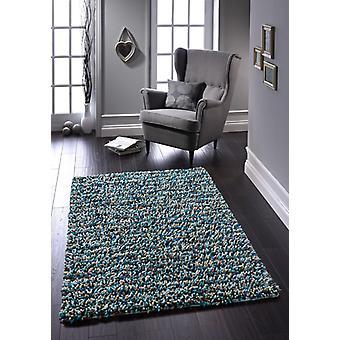 Rocas Shaggy azul rectángulo alfombras alfombras Funky