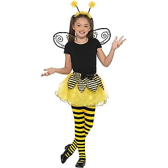 Bumblebee Kit,Tutu Wings & Headband,Children's Animal Fancy Dress, Age 7-9
