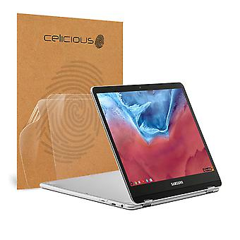 Celicious Vivid Invisible Glossy HD Screen Protector Film Compatible with Samsung Chromebook Plus [Pack of 2]