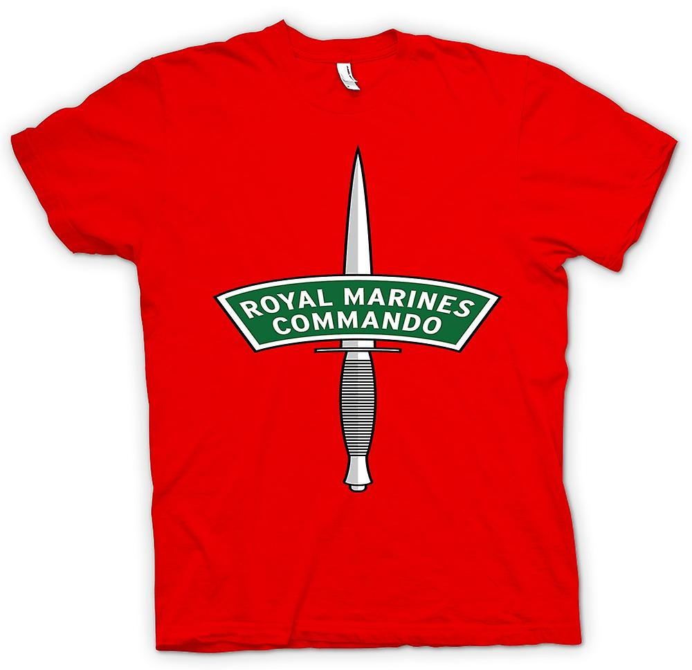 Hommes T-shirt - Royal Marines Commando Dagger