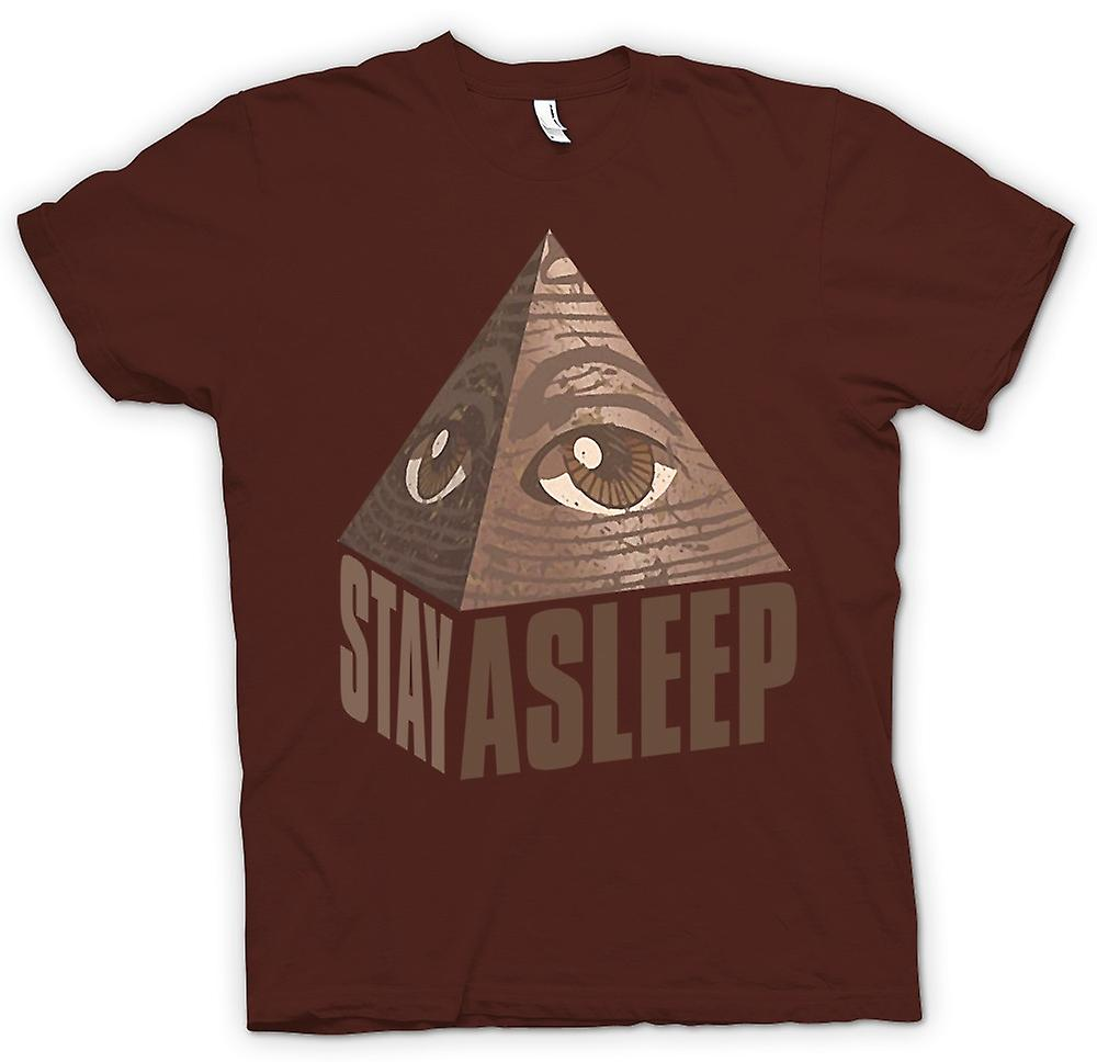Mens T-shirt - Illuminati Stay Asleep