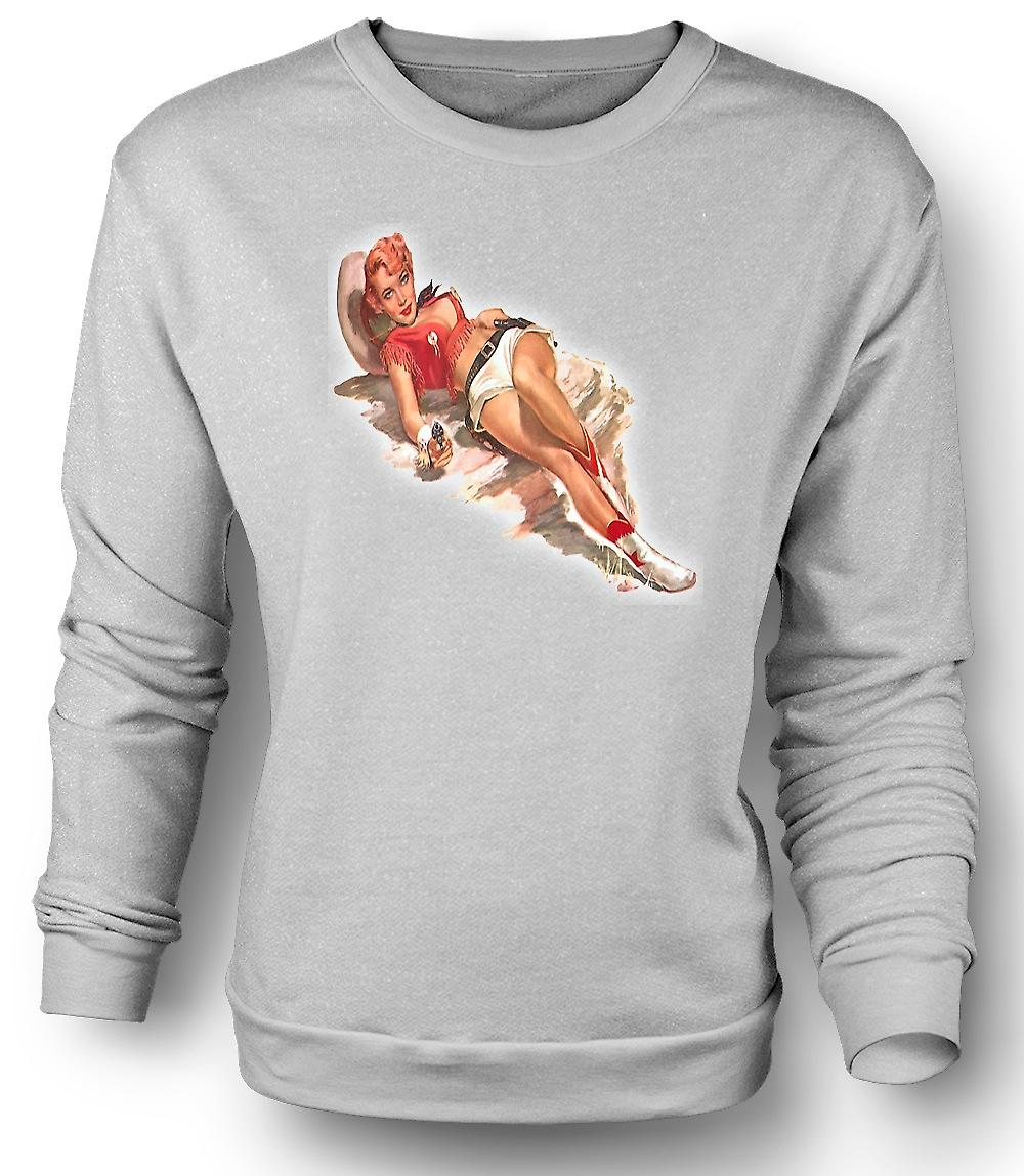 Mens Sweatshirt August's Vintage Pinup