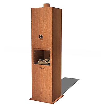 Burni Borr tuinhaard cortenstaal 50x50x200 cm - roest