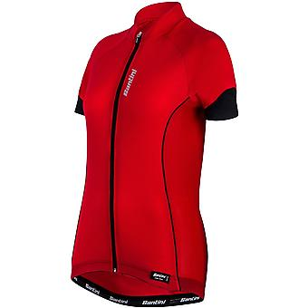 Santini Red Ora Womens Short Sleeved Cycling Jersey