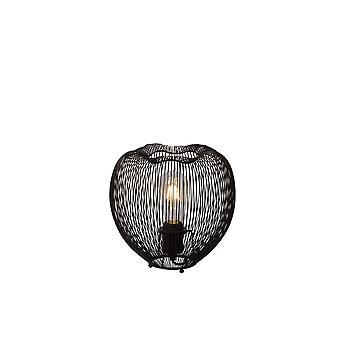 Lucide Wirio Vintage Runde Metall schwarz Tischlampe