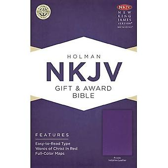 NKJV Gift & Award Red Letter Imitation Leather Purple