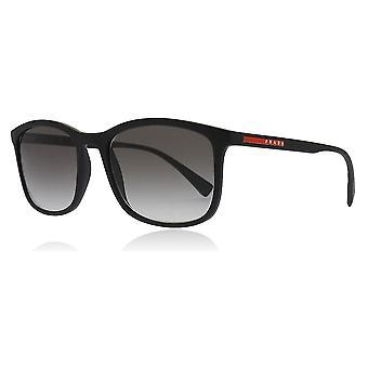 Prada Sport PS01TS DG00A7 Black Rubber PS01TS Rectangle Sunglasses Lens Category 2 Size 56mm